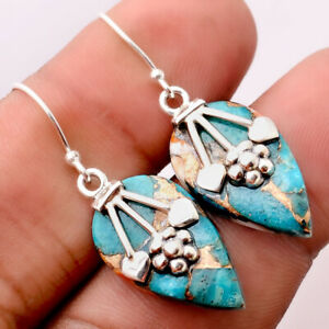 Spiny Oyster Turquoise - Arizona 925 Sterling Silver Earrings Jewelry 2650