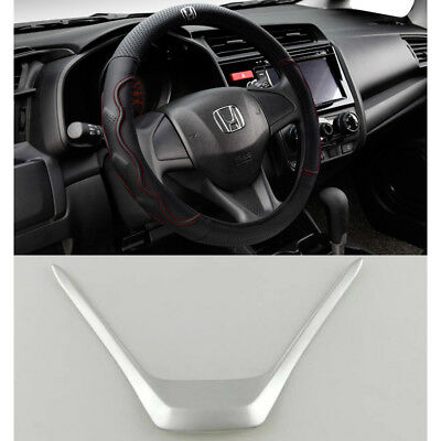 For Honda CRV CR-V 2012-2016 ABS Chrome Steering wheel U-shaped cover Trim 1pcs