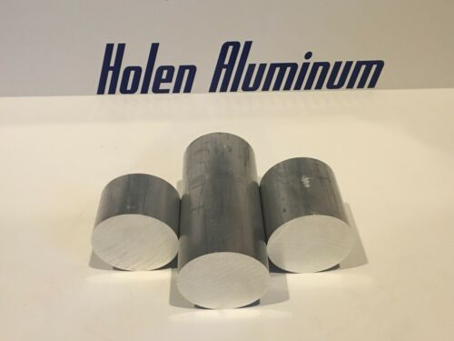 """2 Pieces 2"""" Wide X 12"""" Length Aluminum Round Rod Solid 6061-T6"""