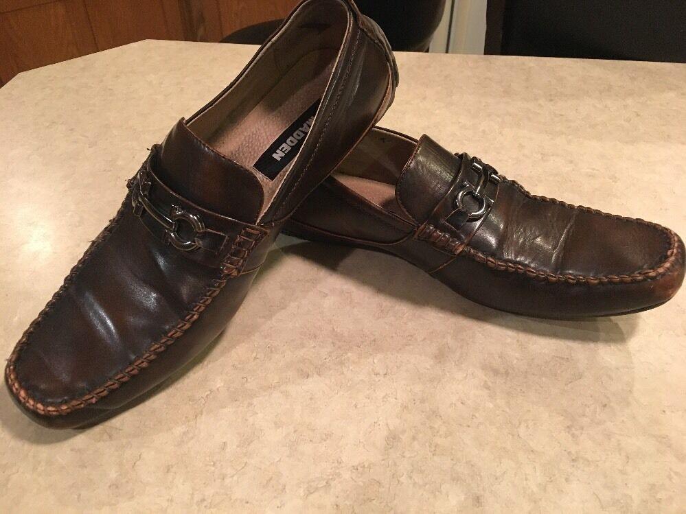 Madden Brown Men's Loafers Dark Brown Madden W Buckle- Size 10M 000ed9