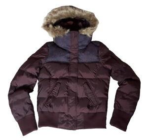 Fur Adidas Dark Down Women's Medium Jacket Plum New Hooded Panel Neo p4wXr4qC