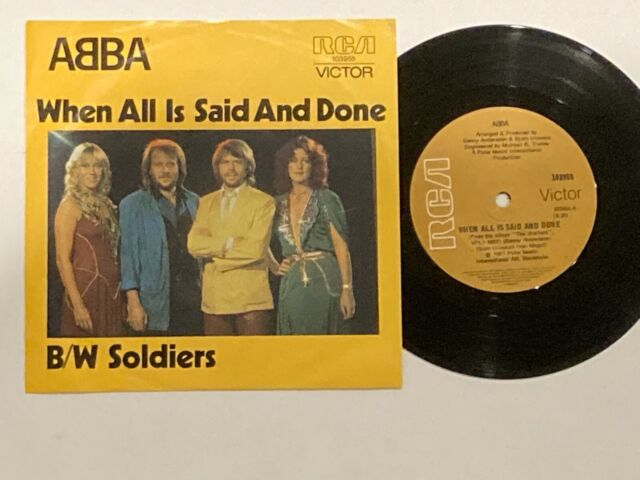 "ABBA:When All Is Said And Done.RARE Original Aussie/OZ Only 7"" Unique slv -1981-"