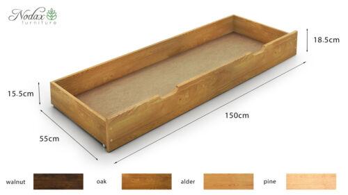 en bois de pin lit double 4ft6in Structure de lit en bois /& lattes de F10/' /_ couleurs * nodax