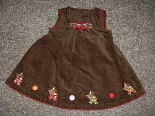 Gymboree Baby Girls Reindeer Frolic Brown Dress Set Christmas Size 3-6 months mo