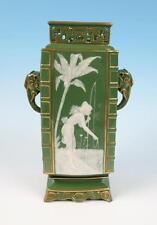 Antique English Pate-Sur-Pate Elephant Vase Minton Worcester Pottery Porcelain