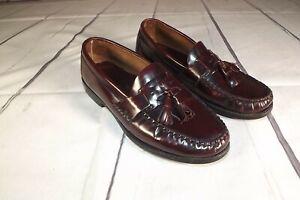 Bostonian-Men-039-s-Dress-Shoes-Leather-Tassel-Burgundy-Loafers-Size-9-M