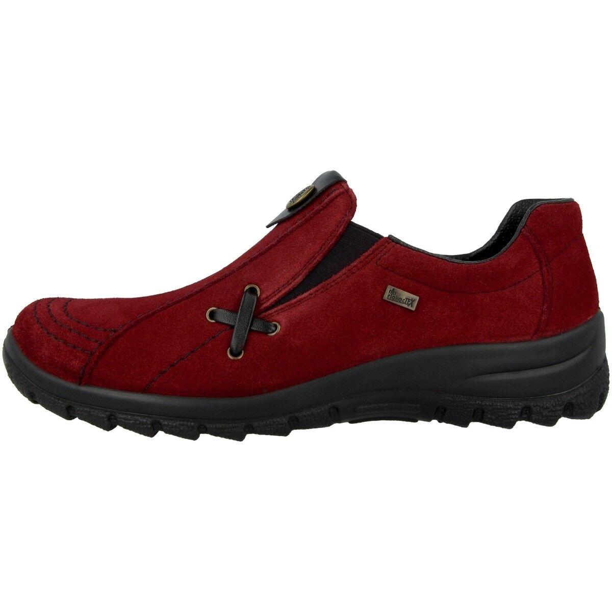 Rieker Samtcalf-Fino Schuhe Damen Slipper Freizeit Sneaker Halbschuhe L7171-35