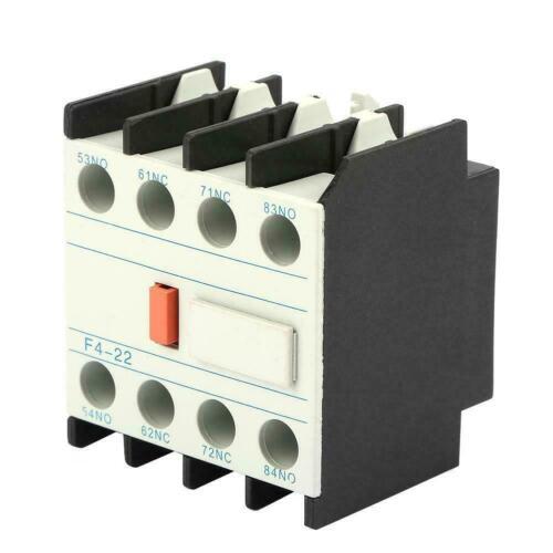 LADN22 F4-22 Hilfskontakt Hilfsschütz Kontaktblock Schütz Hilfsschalter 2NO 2NC