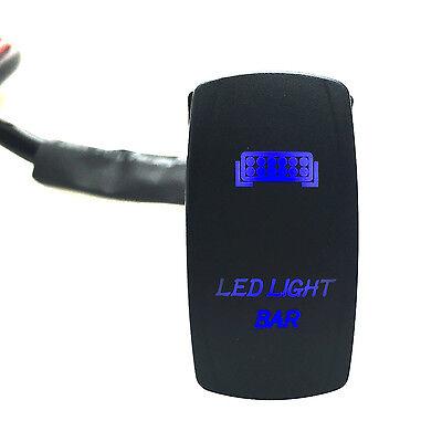 Car 12V 20A 5 Pin Dual Laser LED Light Bar Rocker Switch ON-OFF Blue Waterproof
