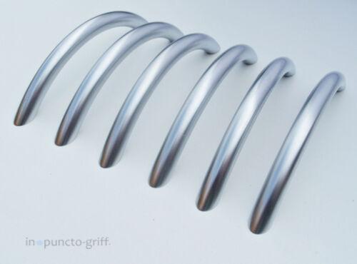 150 Möbelgriffe Schrankgriff Bogengriffe Metall Chrom Siber matt BM 110 mm S210