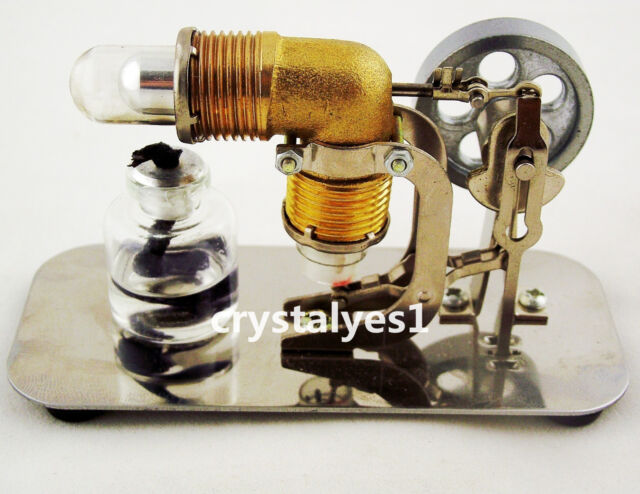 Mini Hot Air Stirling Engine Motor Model Educational Toy Electricity new