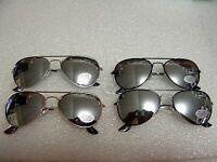 Children Silver Mirror Aviator Sunglasses In Silver Black,gold,pewter Frame