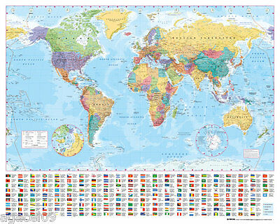 MAXI SIZE MAP OF THE WORLD 91.5 x 61cm POSTER WALL BRAND NEW GREAT GIFT PRESENT