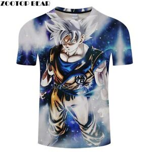 67c9528b Hot Movie Cartoon Goku Ultra Instinct Dragon Ball T Shirts 3D Men ...