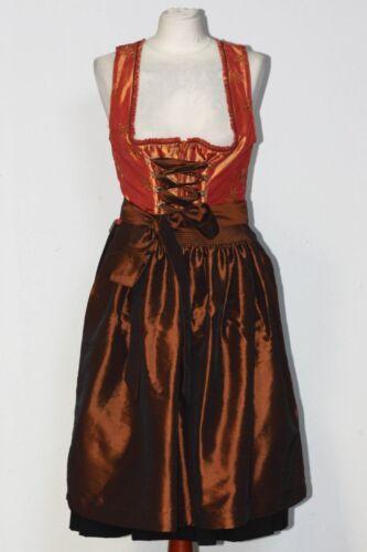 wedding dirndl with silver braid and handmade embellishment Dirndl dress jacquard rose Dirndl with ribbons