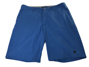 Quiksilver Waterman Surf Board Swim Trunks Shorts Ocean Blue Mens Size 36 EUC