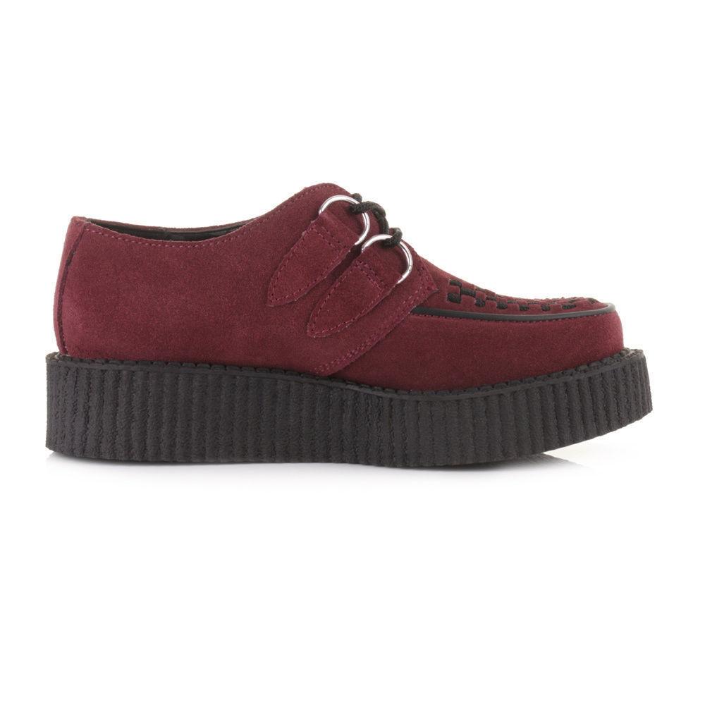 Tuk Av8840 Av8840 Av8840 T.U.K. scarpe unisex Creepers Rosso Borgogna bordeaux in pelle scamosciata Av8840 | Materiali selezionati  | Sig/Sig Ra Scarpa  184bd0