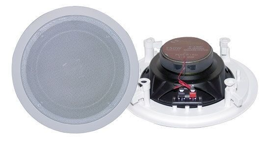 NEW PyleHome PDIC81RD 8'' Two-Way In-Ceiling Speaker System