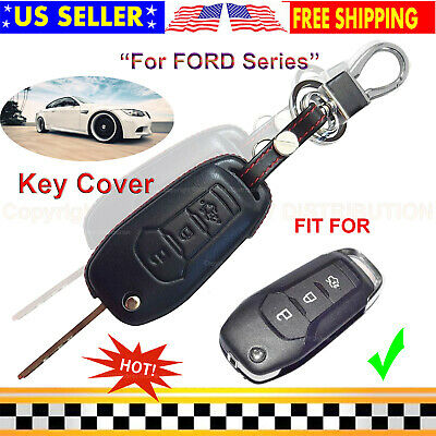 Leather Case Cover Holder For Jeep Grand Cherokee Remote Smart Key 5 Buttons 5B