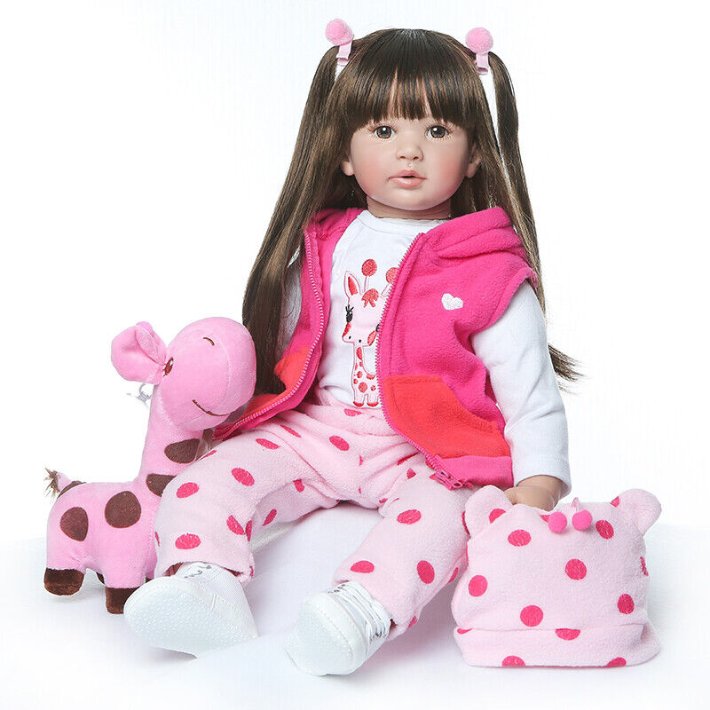 Nicery Reborn Baby Doll Soft Silicone Girl Toy 10in 26cm Waterproof Bear Girl