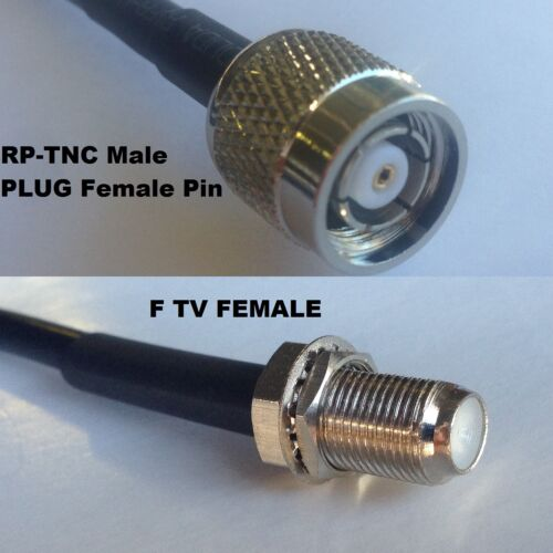 RG316 RP-TNC MALE to F FEMALE Coaxial RF Cable USA-US