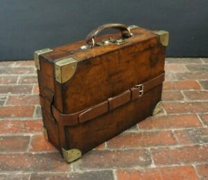 Antique-Leather-amp-Brass-Cartridge-Case-by-Charles-Ingram