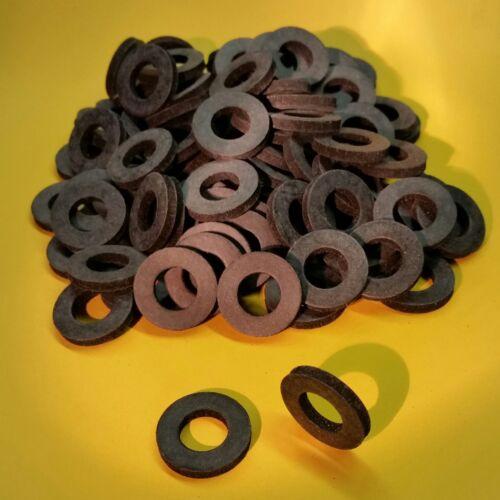 100 Stk Gummischeiben M8x18x3mm Gummi Unterlegscheiben schwarz Dichtung