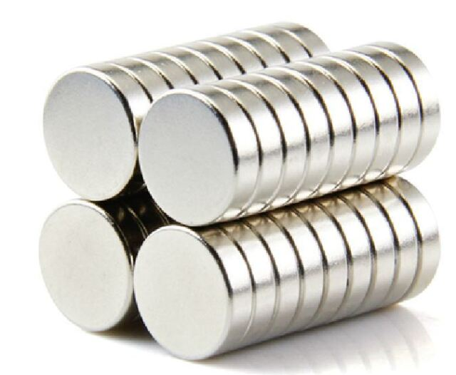 50pcs 12X3mm Neodymium Disc Super Strong Rare Earth N35 Small Fridge Magnets