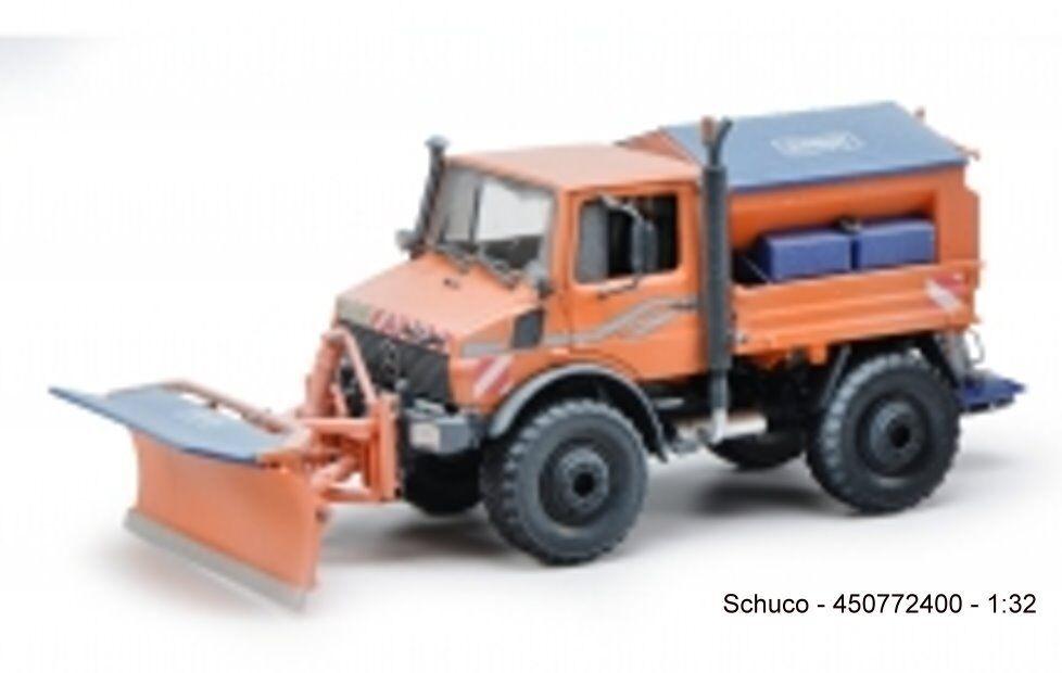 Schuco 450772400 - Unimog U1600  Servicio de invierno,regreso pieza Insertada