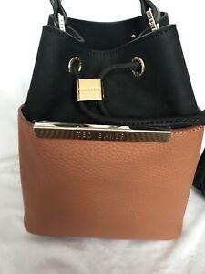 28f85f0d04c4 Image is loading Ted-Baker-Ersilda-Leather-Mini-Bucket-Bag-Camel-