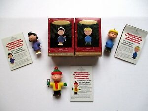 image is loading hallmark peanuts christmas ornaments charlie brown lucy linus