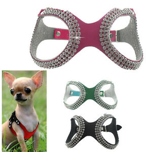 Cute Teacup Dog Harness Vest Pet Puppy Cat Collar For Chihuahua