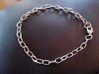Silver Charm Bracelets-link Bracelet-bracelets-wholesale Bracelets-10pcs Blank