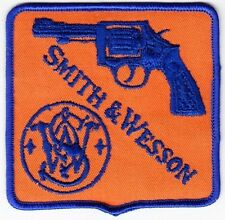 Smith & Wesson on Orange Twill Patch