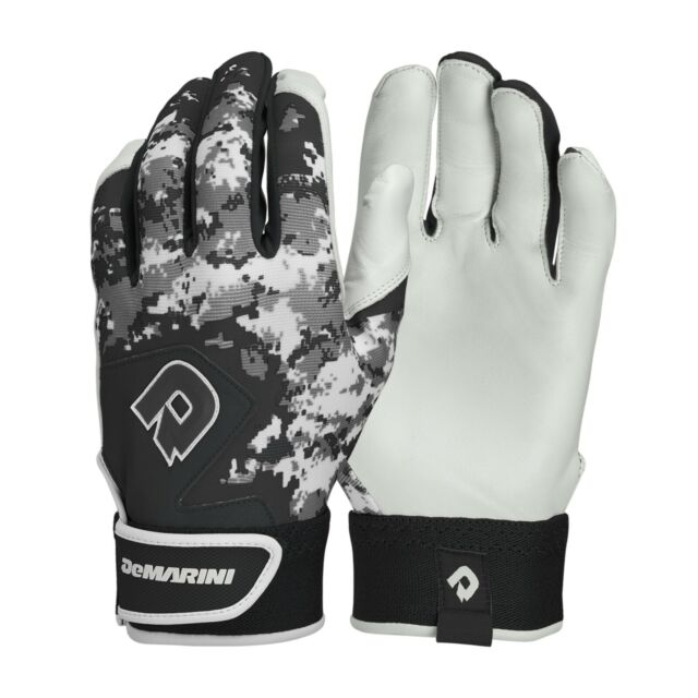 Sports MLB Digitek Baseball Batting Gloves Gray//White//Black Digi Adult Large