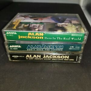 Lot of 3 Alan Jackson Audio Cassettes Lot Country Music Real World Jukebox
