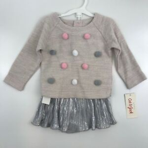 f1182c278 Cat   Jack Baby Girls 3 - 6 Months Three Piece Set Pink Pom Sweater ...