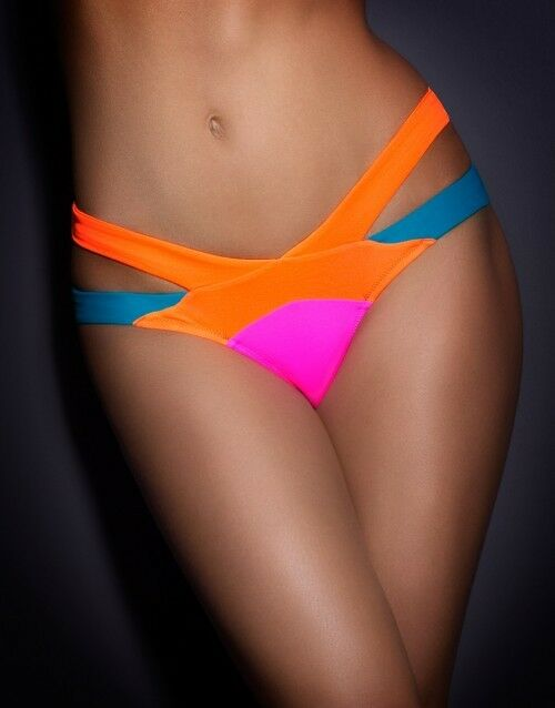 Agent Provocateur Mazzy Bikini Brief Only - Popstar- Size 2 (Small)