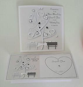 Image Is Loading Personalised Wedding Card Amp Money Wallet Black