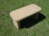 Smooth Plain Bench Top & Leg Concrete Cement Garden Mold 9001