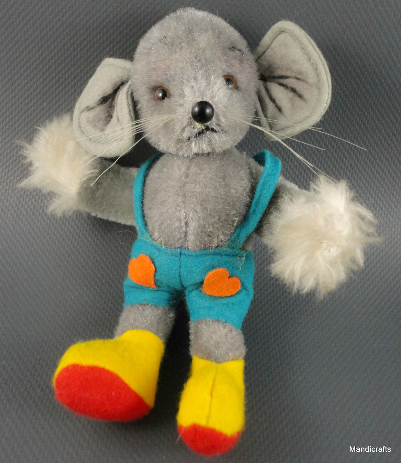 Suzy Quality Toys Mouse Mohair Plush 15cm 6in Bendy Bendy Bendy Felt Shorts 1970s Germany 896b63