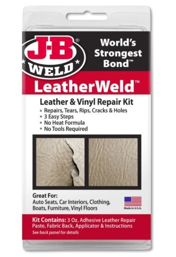 JB Weld Leather Vinyl Repair Kit rs Holes Auto Marine House Clothes JB 2130