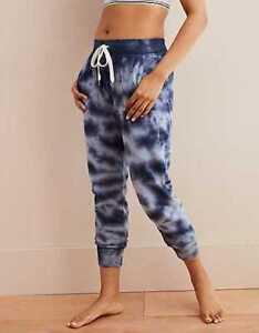 American Eagle Aerie Jogger Sweatpants Lounge Pocketed Pants Tie Dye