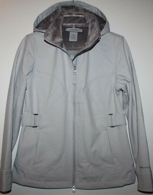 Free Country NWT Women's S XL Ivory Beige Active Jacket Soft Shell Coat w/ Hood