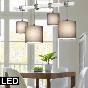 Große Pendel Lampe hochwertig Textil Schirm Wohn Zimmer Tisch Hänge Leuchte E27