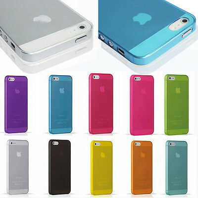 Transparent Clear 0.3mm UltraThin Back Plastic Case Cover Skin For iPhone 5 5s 6