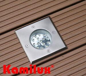 230v Bodenstrahler Gordo Ip67 Rund Eckig Bodenlampe Terrasse