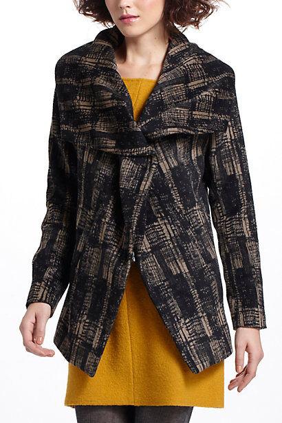 NIP Anthropologie Modernist Shawl-Collar Coat Sz L Petite