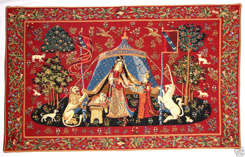 NEW 28  A MON SEUL DESIR CLUNY TAPESTRY Wand HANGING