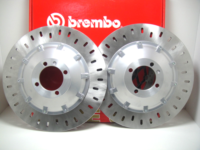 Pair 2 Front Brake Discs Brembo 68B407D2 BMW 750 K 75 Rt 1994 1995 1996